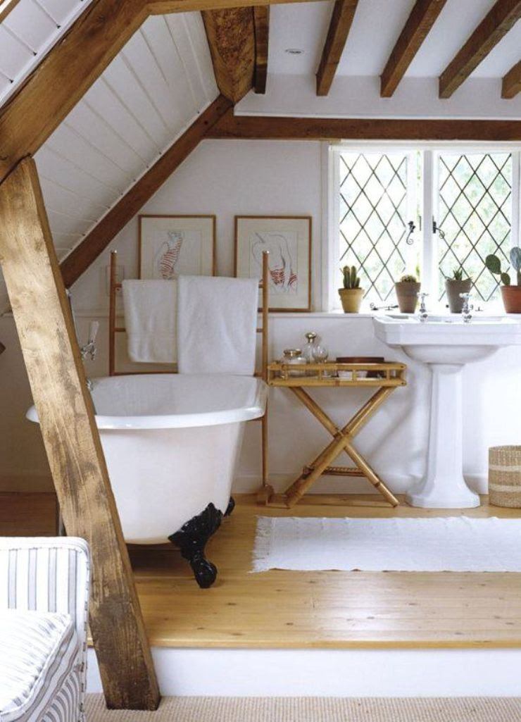 Airy Attic Bathroom