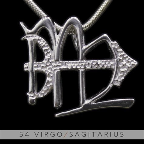 The Virgo and Sagittarius Silver Unity Pendant on Storenvy