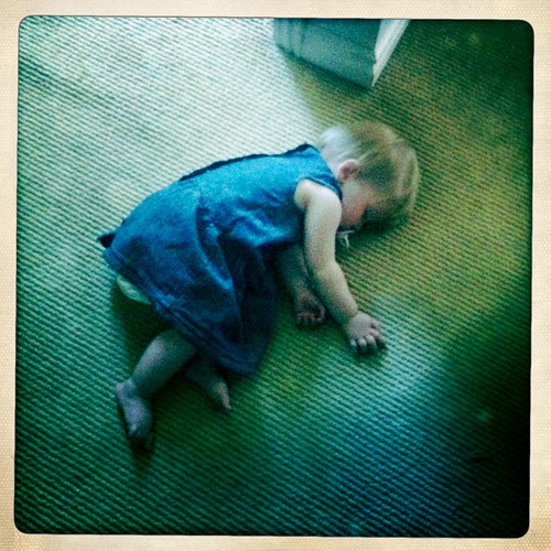 Florence asleep on the floor