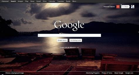 How to use a custom background image on the Google Search