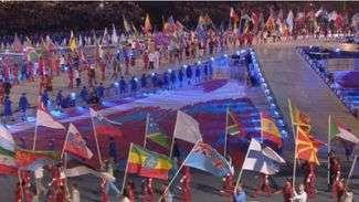 Atletas se despedem da Olimpíada na cerimônia de encerramento