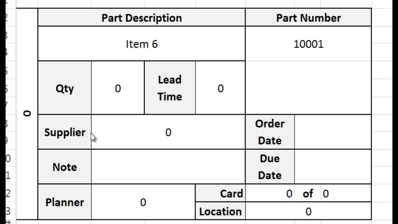 kanban card template tutorial video and download