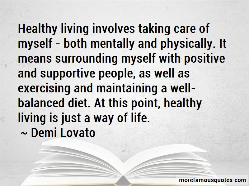 Quotes About Healthy Living Top 61 Healthy Living Quotes From