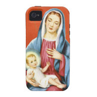 Mary  and Jesus Case-Mate iPhone 4 Covers