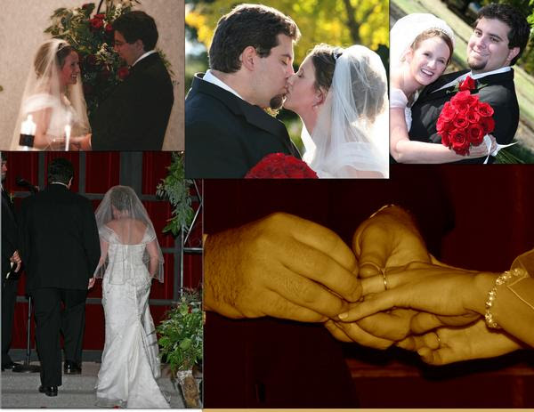 small wedding collage