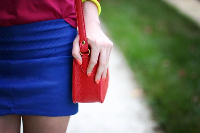 color blocking, fashion outfit, ray ban wayfarers
