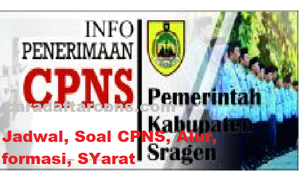 Jadwal Pendaftaran CPNS Kabupaten Sragen 2021 Lulusan SMA ...