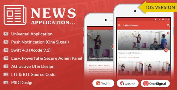iOS News App - Swift4 - free download gratis terbaru