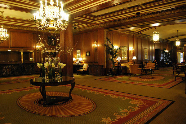 A view of the Omni Parker House lobby