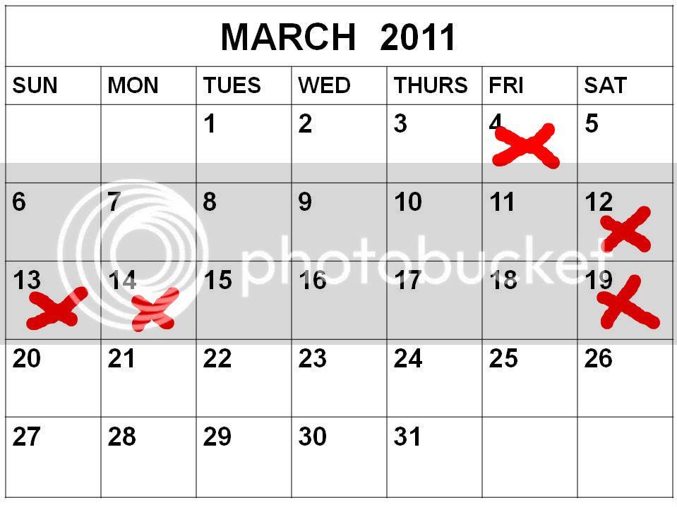 blank march calendar 2010. 2010 Printable Blank Calendar