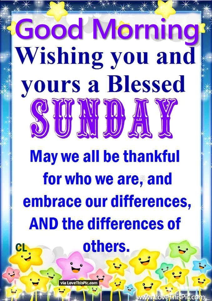 Good Morning Wishing You And Yours A Blessed Sunday Pictures Photos