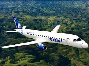 Jato da Embraer 175 operado pela companhia aérea Trip (Foto: Divulgação/Trip Linhas Aéreas)
