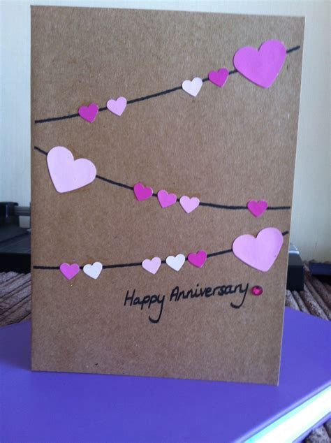 Hearts bunting anniversary card   Places to Visit