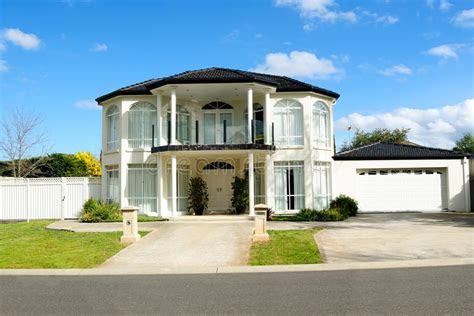 contemporary  elegant house design royalty  stock