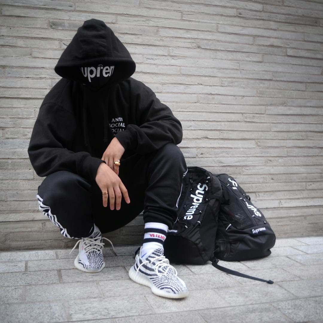 while you wait here's how people are wearing the adidas