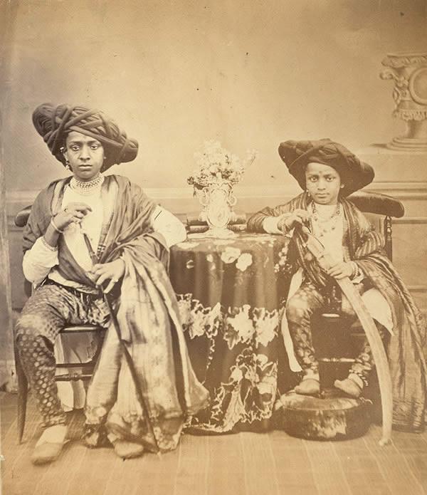 Two Maratha Boys from Akalkot - Bombay (Mumbai) 1867