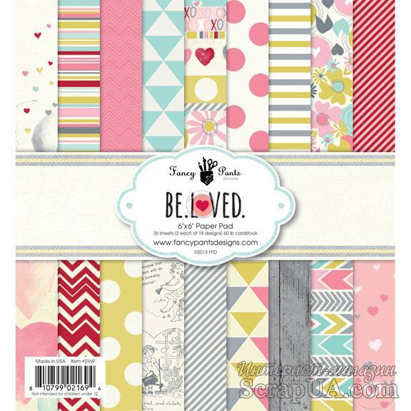 Набор скрапбумаги Fancy Pants - Be.Loved 6x6 Paper Pad, 15х15 см, 36 листов - ScrapUA.com