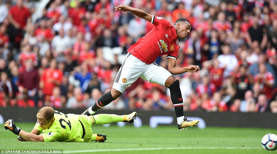 Anthony Martial made the most of his late cameo after coming on for Marcus Rashford as he finished off a fine team move