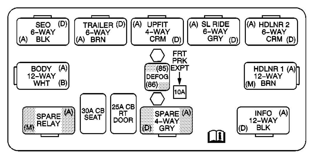 Cadillac Escalade 2003 2004 Fuse Box Diagram Auto Genius