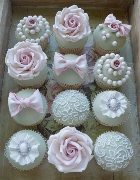 Vintage cup cakes   decadent wedding cupcakes   Cupcakes
