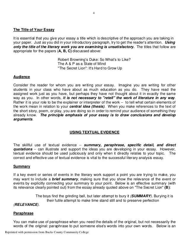 how to write a fiction analysis essay