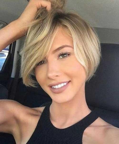 Kurze Frisuren Für Runde Gesichtsform Frisuren Trends 2018