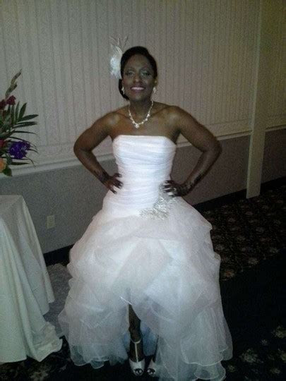 David's Bridal Galina Signature Organza High low Wedding