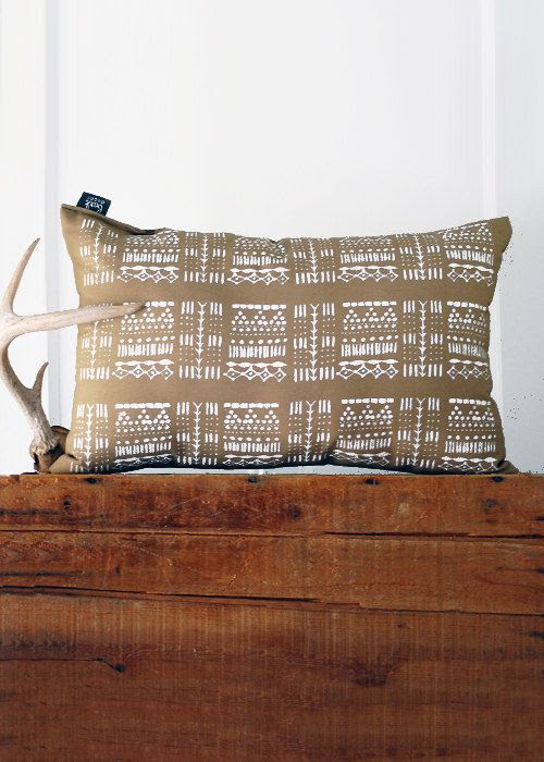 Giza Pillow    Hand Printed Pillow  COVER ONLY  Modern by SimkaSol, $44.00