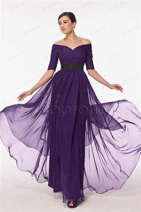 Dark purple mother of the bride dresses with sleeves plus