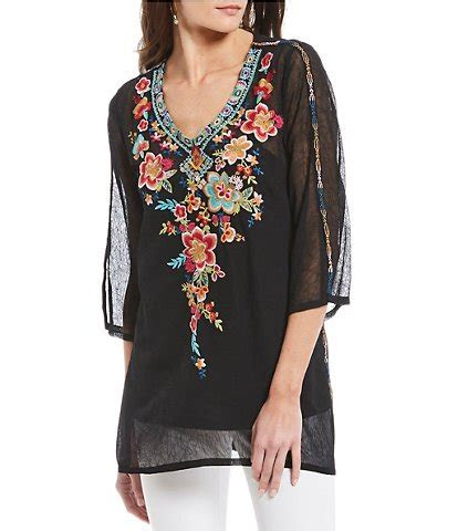 embroidered womens casual dressy tops blouses
