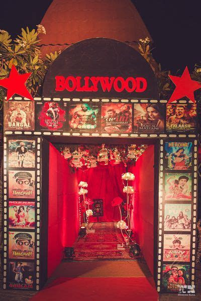 Bollywood theme sangeet entrance decor idea in 2019