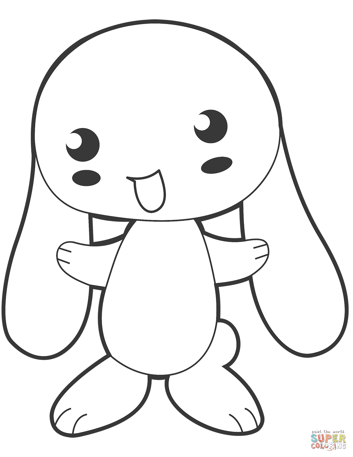 Cute Anime Bunny coloring page | Free Printable Coloring Pages