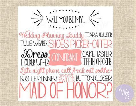 "Maid of Honor Proposal Card ""Cake Tasting, Pink"