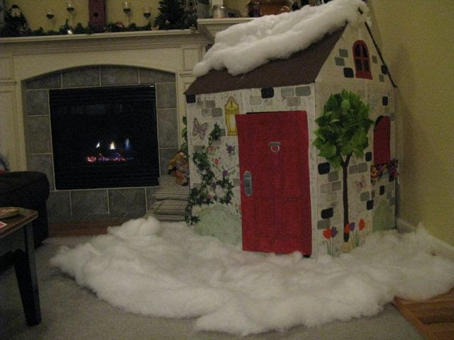 DIY kids cozy Christmas cottage  For the kids  Pinterest