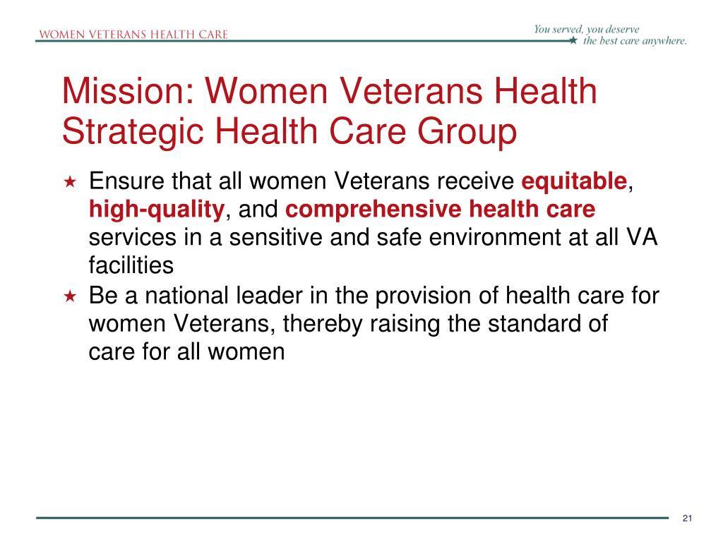 PPT - Women Veterans Health Care PowerPoint Presentation ...