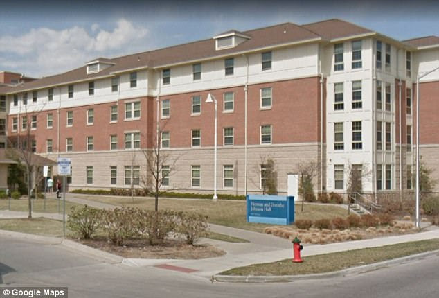 The attack allegedly happened on February 23 at Johnson Hall (pictured) on the University of Missouri- Kansas City's campus