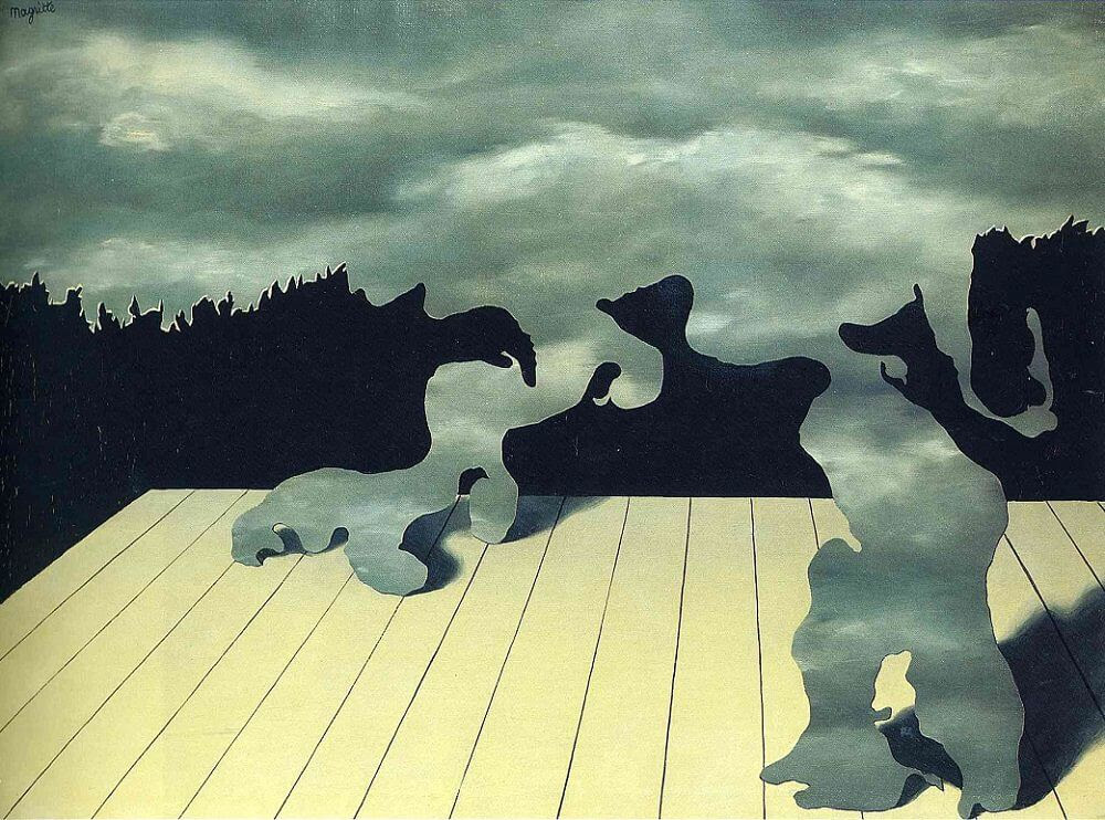 The Muscles of the Sky, 1927 by Rene Magritte