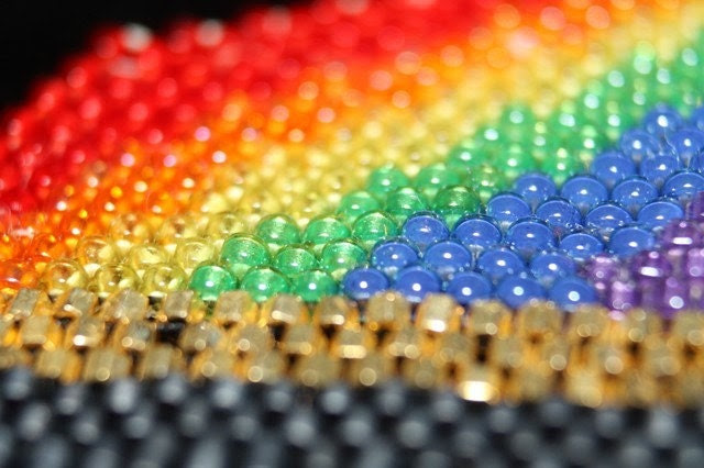 End of the Rainbow, Pot of Gold DELICA bead Pattern - GoodnessInTheCosmos