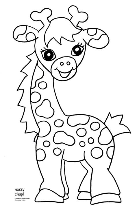baby jungle animal coloring pagespin giraffes clip art