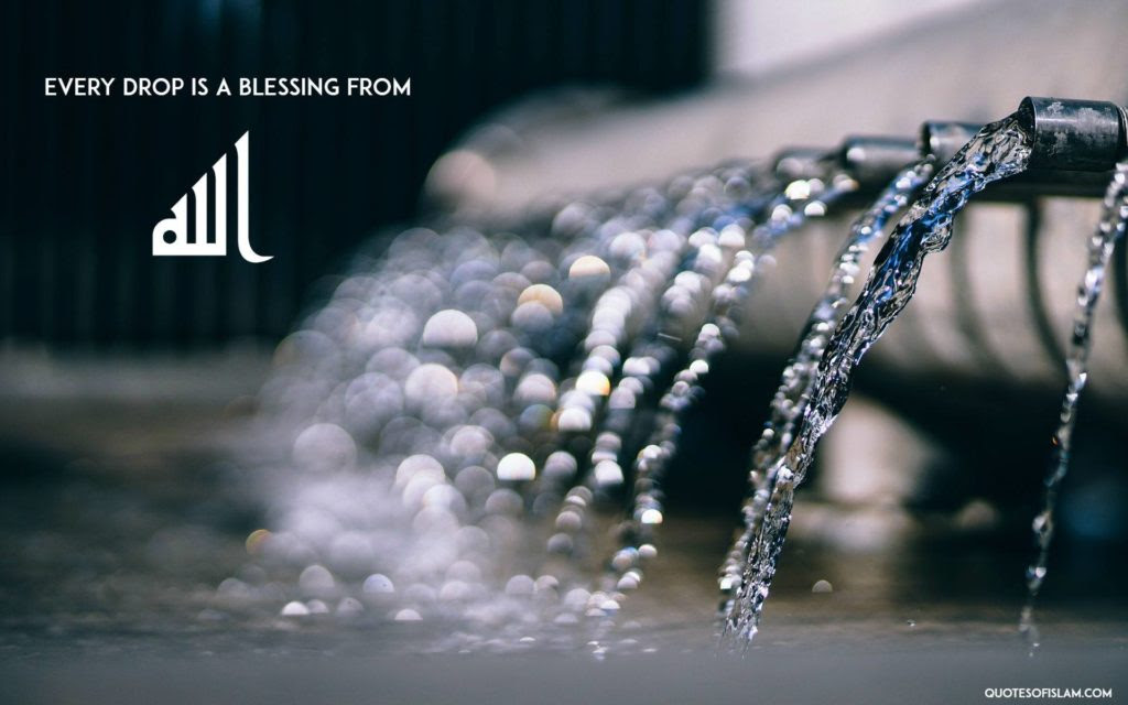 Image result for water Allah blessing