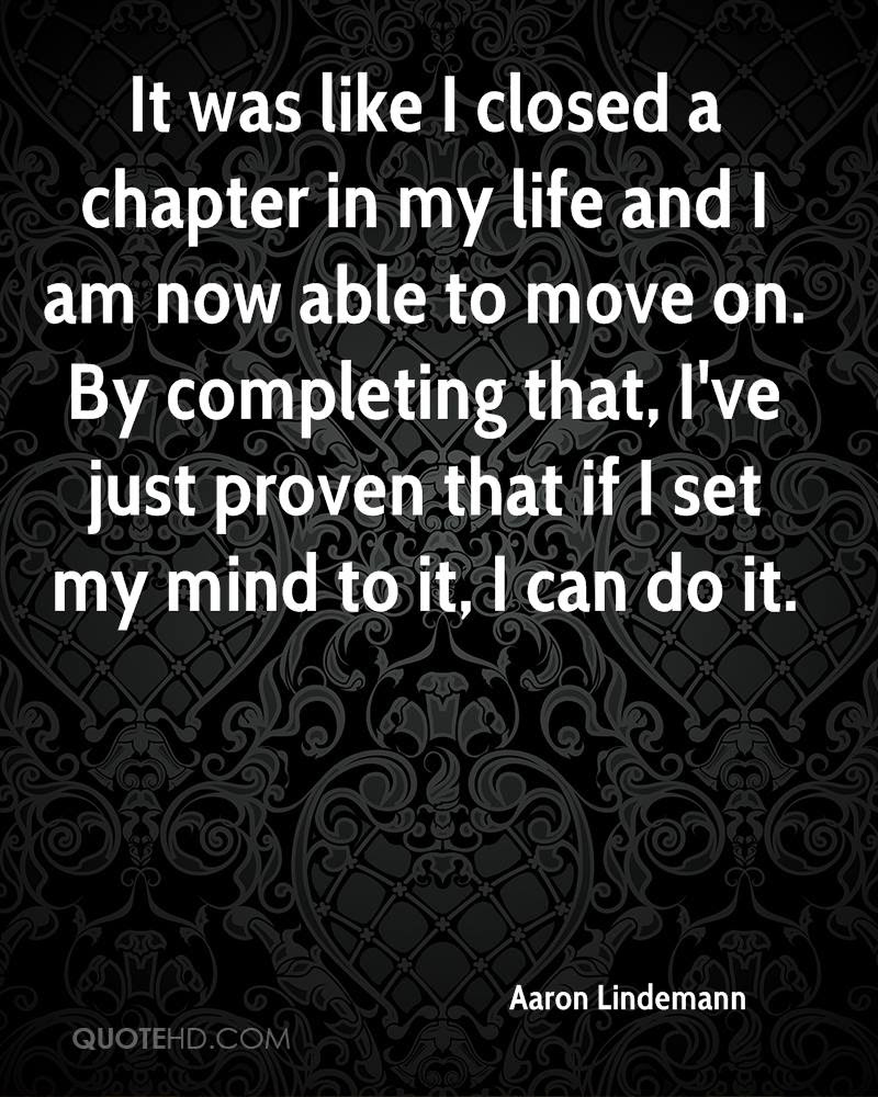 Quotes About Closing A Chapter 27 Quotes