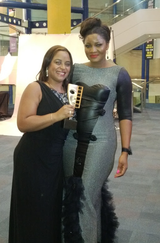 Flower Girl Director Michelle Bello shares award with Nollywood superstar Omotola Jalade Ekeinde