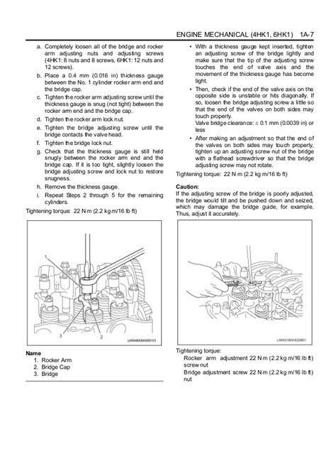 Hitachi 6 hk1 engine service repair manual