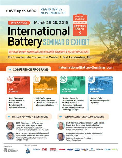 brochures international battery seminar exhibit