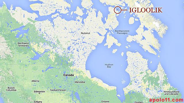 Mapa da regiao de igloolik