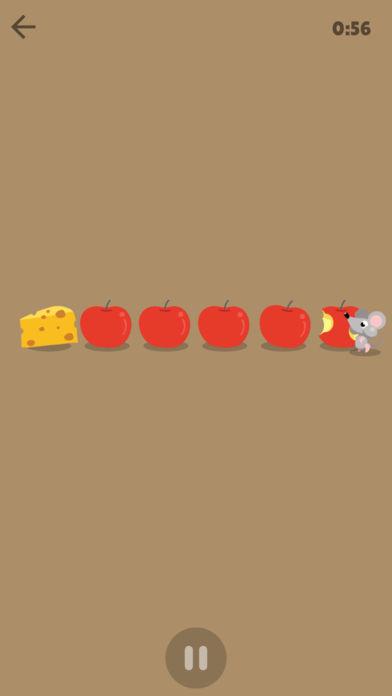 Mouse timer sur Ipad : une souris qui mange des pommes pour décompter le temps qui passe.