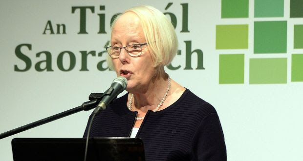 Ms Justice Mary Laffoy, chairwoman, at the Citizens' Assembly in Malahide, Co Dublin. Photograph: Eric Luke