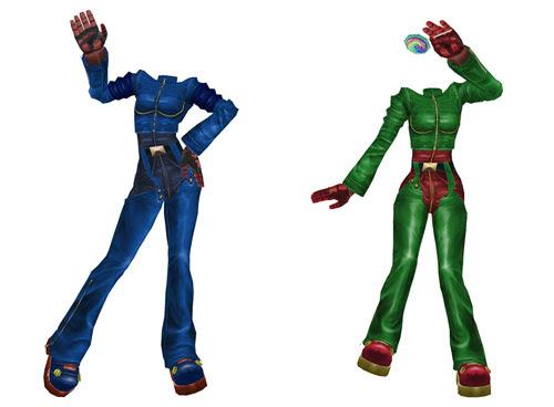 MMD Kula Diamond Blue & Green Outfit