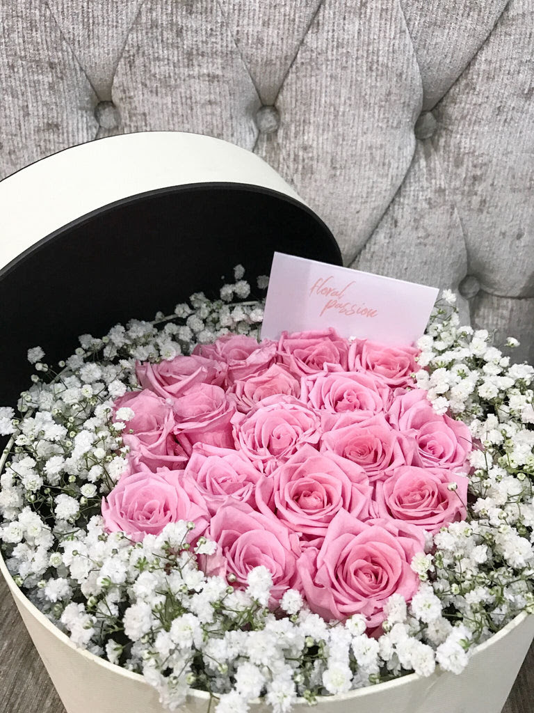 Preserved Roses Baby Breath Sflower Box Floral Passion Sg