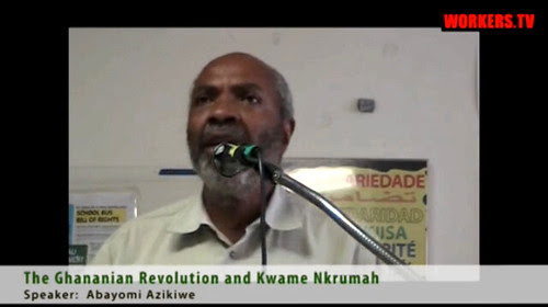 Abayomi Azikiwe, editor of the Pan-African News Wire, speaking in New York City on June 16, 2012. He addressed the literary contributions of Kwame Nkrumah. by Pan-African News Wire File Photos